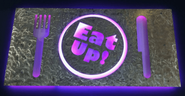 Sign for Eat Up cafe
